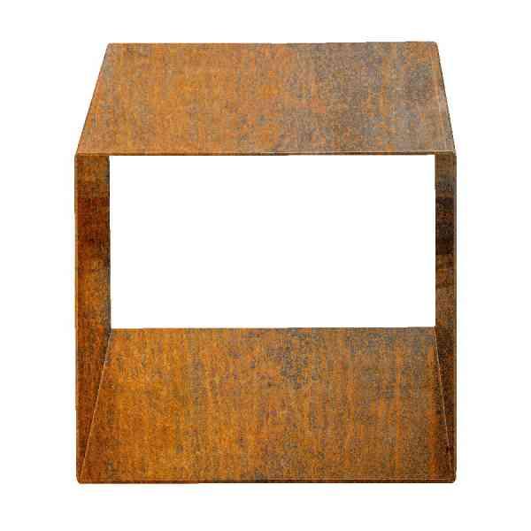 Holzlagerwürfel Kuutio aus Cortenstahl