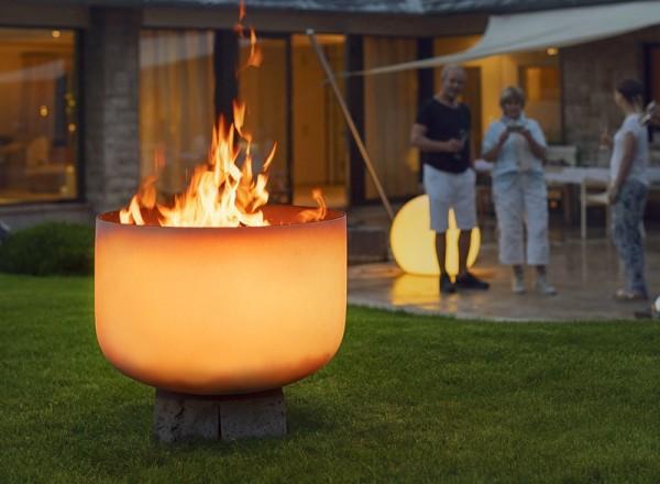 Feuerschale aus Quarzglas ø 56 x 39 cm