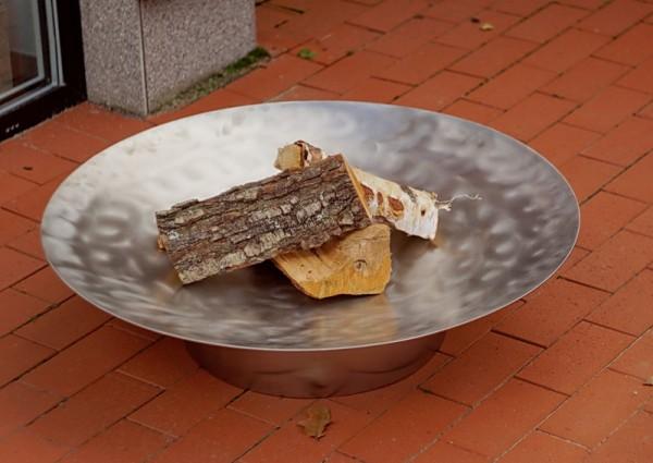 Feuerschale Gedi ø 80 x 20 cm aus Edelstahl