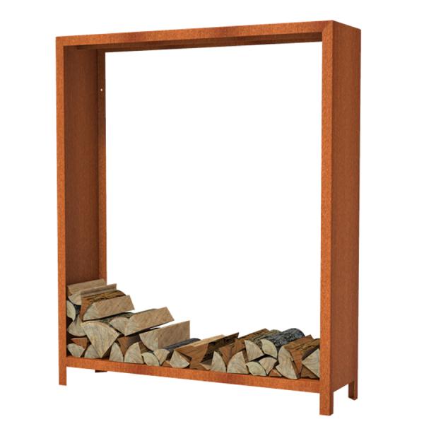 Holzlager Puuhylly-15418 aus Cortenstahl