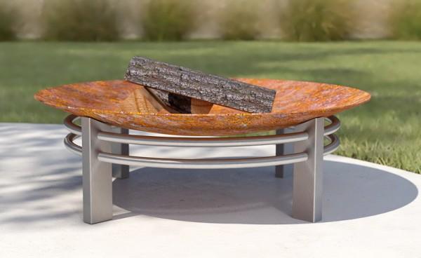 Feuerschale Nusku ø 80 x 30 cm aus Rohstahl rostend
